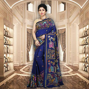Buy Exclusive Kantha Stitch Sarees Online