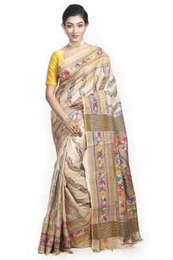 Pure Silk Muslin Saree with Silk Mark