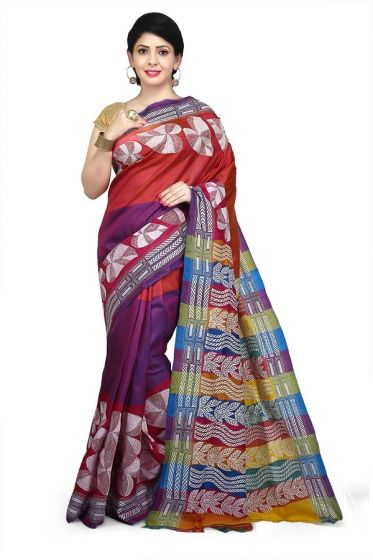 Shantiniketan Boutique Kantha stitch saree