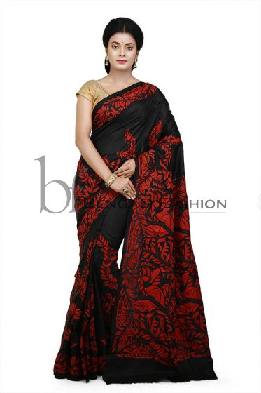 Trendy Kanthastitch Silk Saree