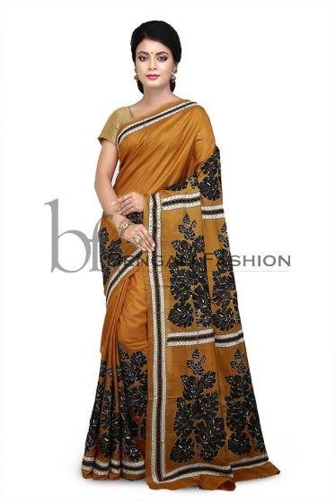 Pure Silk Kanthastitch Saree