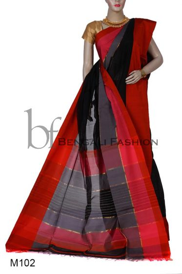 Maheshwari Silk-Cotton Saree(M102)