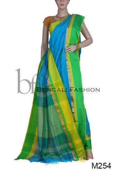 Handloom Silk Cotton Maheshwari Saree(M254)