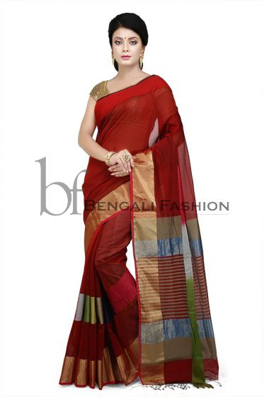 Maheshwari Silk-Cotton Saree(M387)