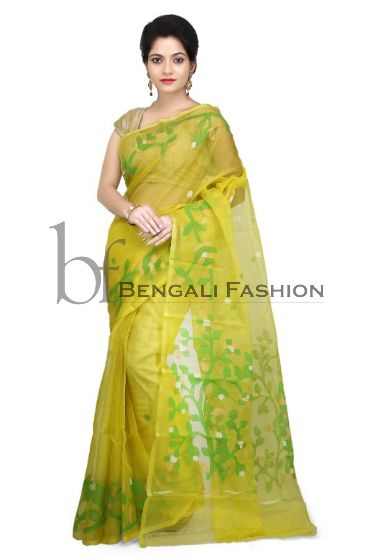 Pure Muslin Bengali Silk Saree