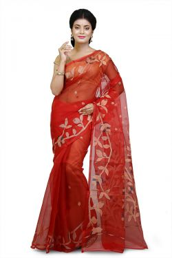 Ethnic Pure Silk Muslin Saree