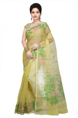 Pure Resham Silk Muslin Saree from Bengal