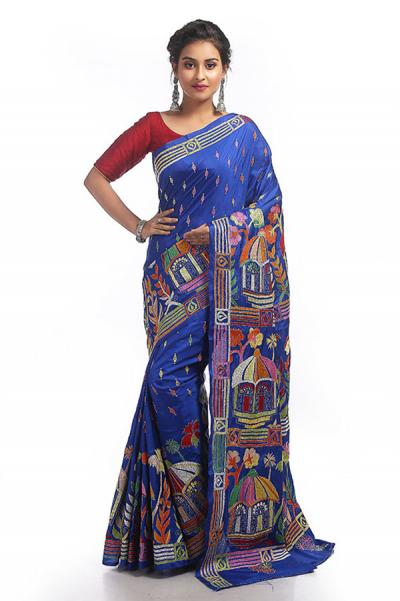 Kantha Stitch Sarees - Few Tips to Choose the Right One for Festival