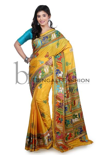 Kantha- A Touch of Rural Bengal in a Saree
