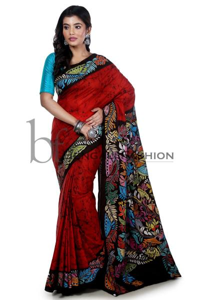 Learn More about Kantha Stitch Saree