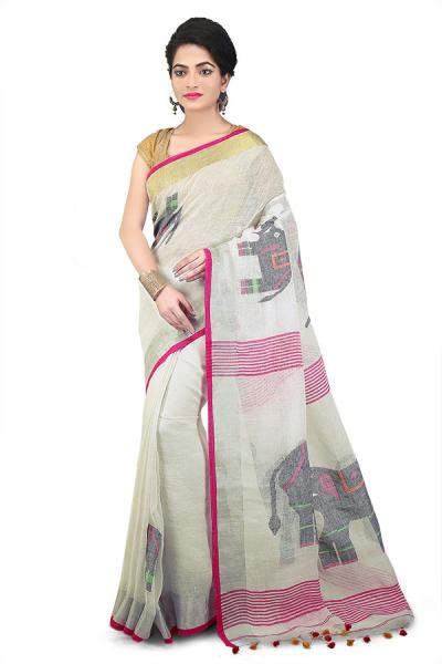 Linen Sarees: Make you Gorgeous for Every Occasion